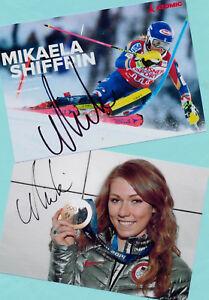 Mikaela SHIFFRIN - 2 TOP Autogramm Bilder (27) - Print Copies + SKI AK signiert
