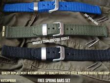 REPLACEMENT NYLON CANVAS STRAP+ BUCKLE WATCH BAND TO FIT SEIKO ARMY MILITARY MOD