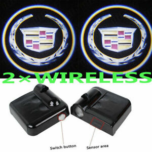 2x LED EMBLEM DOOR PROJECTOR GHOST SHADOW PUDDLE LOGO LIGHTS For Cadillac