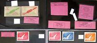 s1895) Indien Raketenpost Sammlung von 34 Vignetten 1934/36 - India Rocket Mail