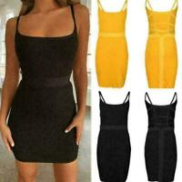 Bandage Bodycon Evening Party Cocktail Short Mini Dress Women Sleeveless R0 A2H0