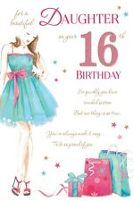 16th DAUGHTER BIRTHDAY CARD AGE 16 QUALITY CARD WITH BEAUTIFUL VERSE