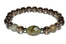 Deflecting Negativity Gem Bracelet Smokey Quartz Labradorite Natural Stones Bead