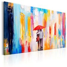 100% Handgemalt – Gemälde / Bilder Leinwand Regen Paar 90x60 h-B-0069-b-a_MK
