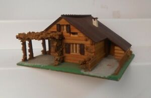Vintage Faller HO 00 281 Wooden House With Trellis Composition Stucco