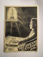 Abiturientia Steylensis 1936 - Cicero-Buch - Karte / Studentika