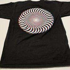 Spitfire Wheels Skateboarding Trippy Psychedelic Tee Shirt Size M