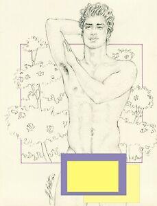 "Male Nude Adult Gay Art ""Slim"" Original, NOT a copy by Mario Bieletto"