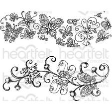 Heartfelt Creations Stamps ~ BUTTERFLY DREAMS BORDER ~ HCPC3823