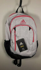 New Adidas Mission II Backpack Hydroshield Tech Friendly Padded Straps Grey/Pink