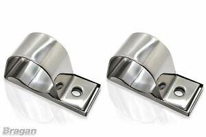 76mm Spot Light Clamp Stainless Steel Brackets For Roll Bar Nudge Truck Light