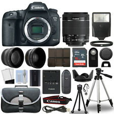 Canon 7D Mark II Digital SLR Camera + 18-55mm 3 Lens Kit + 16GB Top Value Bundle