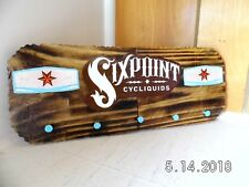 Handmade Wooden Sixpoint Cycliquids Craft Beer Bar Sign/Keyholder Original 2018