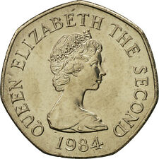 [#463998] Jersey, Elizabeth II, 20 Pence, 1984, MS(65-70), Copper-nickel, KM:66