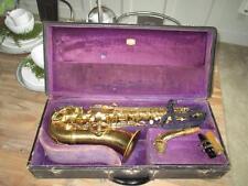 Vintage 1930 Conn Transitional Art Deco Alto Saxophone Sax W/ Case VERY NICE