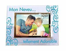 "Cadre photo ""Mon Neveu ... tellement adorable"" horizontal idée cadeau neuf"