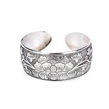 Beautiful New Tibetan Tibet Silver Totem Bangle Cuff Peony Bracelet Jewelry JX