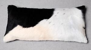 """100% NEW COWHIDE LEATHER CUSHION COVER RUG COW HIDE HAIR (24"""" x 12"""")  SA-3855"""