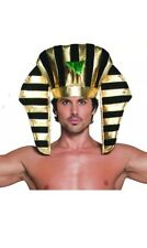 Adult Egyptian Pharaoh Fancy Dress Headpiece Egypt Pharoah Hat by Smiffys