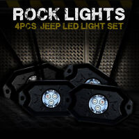 4pcs Bluetooth Music RGB Color LED Rock Lights Under Car For Jeep ATV offroad