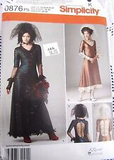 0876 SEWING PATTERN~UNCUT~MISSES SZ 12-20~COSTUME:GOTHIC/VICTORIAN/WEDDING DRESS