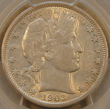 1903-O Barber Half Dollar 50c PCGS Certified XF40 Lustrous softly struck AU more