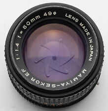 Mamiya Sekor EF 50mm 50 mm 1:1.4 1.4 - Mamiya ZE X