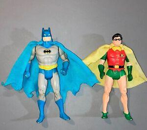 "1984 Kenner Super Powers BATMAN & ROBIN 3-3/4"" figures-complete w/capes"