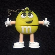 1 Yellow M&M Character, Novelty 16GB USB Pen Drive, USB Flash Drive Memory Stick