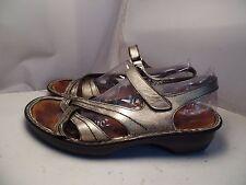 Naot Women 42 / 11 Paris Gold Metallic Leather Criss Cross Ankle Strap Sandals