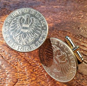 Vintage Imperial Austrian Eagle Large Austrian Coin Cufflinks + Gift Box!