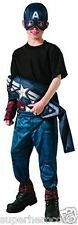 Captain America Winter Soldier Reversible Muscle Costume Size 8-10 Rubies 885199