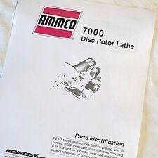 Ammco 7000 Disc Brake Lathe Parts Manual With Diagrams Hustler Rotor