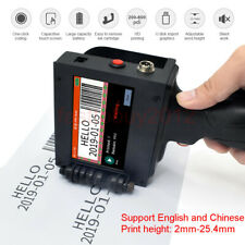 Handheld Inkjet Printer for Date Word QR Code Barcode Logo Machine DIY 2-25.4mm
