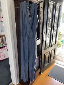 ESPRIT Jumpsuit Size 14 BNWT - Retro Style - Lovely Feel 100% Lyocell RRP $140