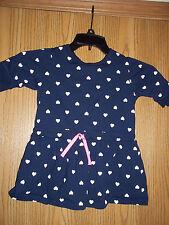 Carters Girls Blue Dress Hearts Size 6