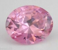 5.65CT AAA Natural Pale Pink Zircon Gems 11x9mm Oval Cut VVS Loose Gemstones