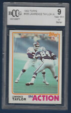 LAWRENCE TAYLOR 82 TOPPS 1982 IN ACTION NO 435 BECKETT 9  16239