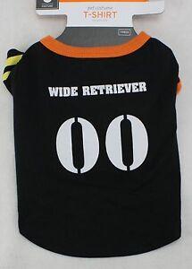 Halloween Black White Orange Wide Retriever Pet 00 Dog T Shirt Medium 15-30  lbs