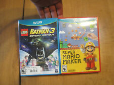 Super Mario Maker + LEGO Batman 3 Beyond Gothan NINTENDO Wii U LOT DEAL COMPLETE