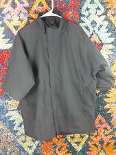 FootJoy mens solid black DryJoys short sleeve golf jacket L Vguc