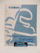 OEM Yamaha Owners Service Manual TT-R125P 2002 TT-R125 Owner LIT-11626-15-24
