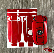 Red Metallic Key Wrap Cover Skin BMW Remote 1 3 4 5 6 E Series Z4 X1 X3 X5 X6 M