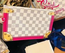 PUERTO BANOS Louis Vuitton Wristlet Pink Pouch Pochette Clutch Bag NEW 2018
