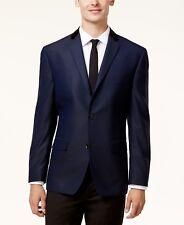 $320 ALFANI men BLUE CHECK SLIM FIT TWO BUTTON SUIT BLAZER JACKET SPORT COAT 38R