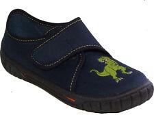 SUPERFIT Schuhe Hausschuhe blauTextil Klettverschluss Dinosaurier DINO NEU
