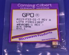 Corning Gilbert Smp Ra To Pcb Rf Microwave Connector A113 P33 01 T