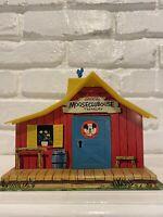 Vintage Mattel 1957 Mickey Mouse Club House Treasury Tin House