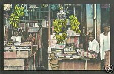 Singapore Kling Keling Shop Fruit Seller Banana ca 1910