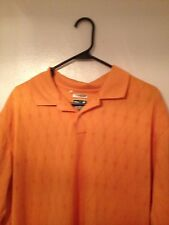 Adidas Clima Cool Golf Polo Shirt XL Orange Short Sleeve
